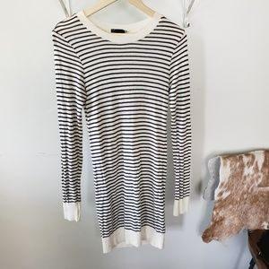 american apparel striped knit sweater dress